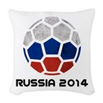 Russia World Cup 2014 Woven Throw Pillow