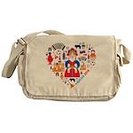 Russia World Cup 2014 Heart Messenger Bag