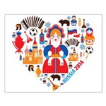 Russia World Cup 2014 Heart Small Poster