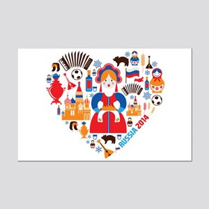 Russia World Cup 2014 Heart Mini Poster Print