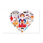 Russia World Cup 2014 Heart Mini Poster Print