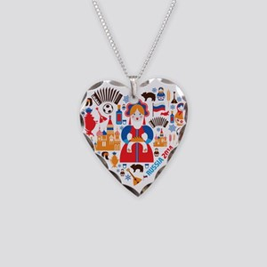 Russia World Cup 2014 Heart Necklace Heart Charm