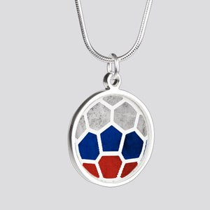 Russia World Cup 2014 Silver Round Necklace