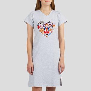 Russia World Cup 2014 Heart Women's Nightshirt
