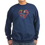 South Korea World Cup 2014 Heart Sweatshirt (dark)