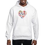 South Korea World Cup 2014 Heart Hooded Sweatshirt