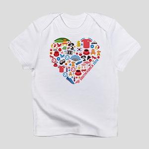 South Korea World Cup 2014 Heart Infant T-Shirt
