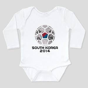 South Korea World Cup Long Sleeve Infant Bodysuit