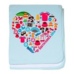 South Korea World Cup 2014 Heart baby blanket