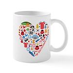 South Korea World Cup 2014 Heart Mug