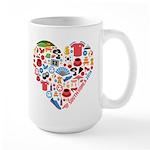 South Korea World Cup 2014 Heart Large Mug