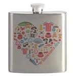 South Korea World Cup 2014 Heart Flask