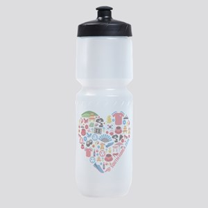 South Korea World Cup 2014 Heart Sports Bottle