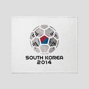South Korea World Cup 2014 Throw Blanket