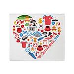 South Korea World Cup 2014 Heart Throw Blanket