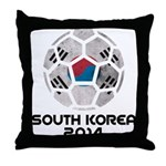 South Korea World Cup 2014 Throw Pillow