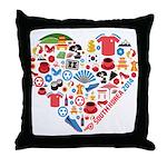 South Korea World Cup 2014 Heart Throw Pillow