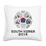 South Korea World Cup 2014 Square Canvas Pillow