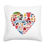 South Korea World Cup 2014 He Square Canvas Pillow