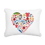 South Korea World Cup 20 Rectangular Canvas Pillow