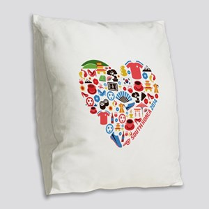 South Korea World Cup 2014 Hea Burlap Throw Pillow