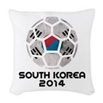 South Korea World Cup 2014 Woven Throw Pillow