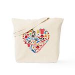 South Korea World Cup 2014 Heart Tote Bag
