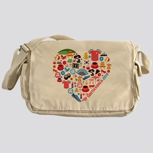 South Korea World Cup 2014 Heart Messenger Bag