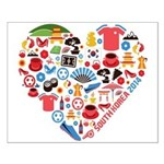South Korea World Cup 2014 Heart Small Poster