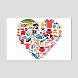 South Korea World Cup 2014 Heart Mini Poster Print