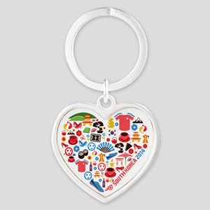 South Korea World Cup 2014 Heart Heart Keychain