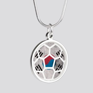 South Korea World Cup 2014 Silver Round Necklace