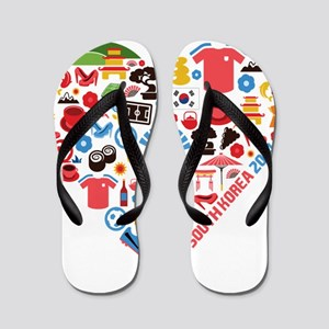 South Korea World Cup 2014 Heart Flip Flops