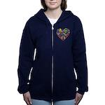 World Cup 2014 Heart Women's Zip Hoodie