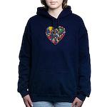 World Cup 2014 Heart Women's Hooded Sweatshirt