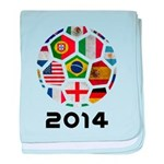 World Cup 2014 baby blanket