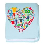World Cup 2014 Heart baby blanket