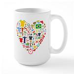 World Cup 2014 Heart Large Mug