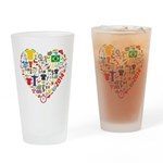 World Cup 2014 Heart Drinking Glass