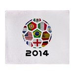 World Cup 2014 Throw Blanket