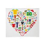 World Cup 2014 Heart Throw Blanket