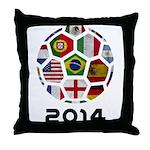 World Cup 2014 Throw Pillow