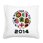 World Cup 2014 Square Canvas Pillow