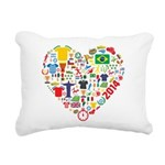 World Cup 2014 Heart Rectangular Canvas Pillow