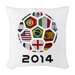 World Cup 2014 Woven Throw Pillow