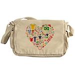 World Cup 2014 Heart Messenger Bag