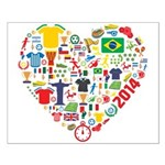 World Cup 2014 Heart Small Poster
