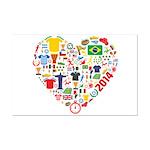 World Cup 2014 Heart Mini Poster Print