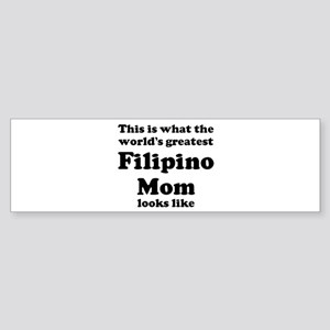 Filipino mom Bumper Sticker