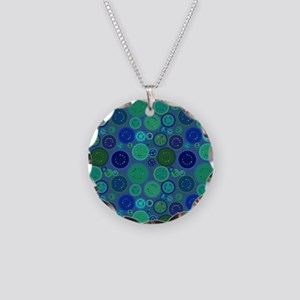 Cool Dots Necklace Circle Charm